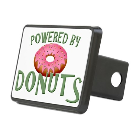Powered By Donuts Rectangular Hitch Cover