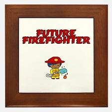 Future Firefighter (boy) Framed Tile