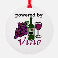 Powered By Wine Ornament