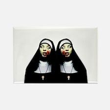 Horror nuns Magnets