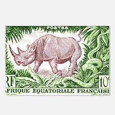 1947 French Equatorial Africa Rhinoceros Stamp Pos