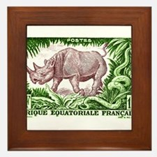 1947 French Equatorial Africa Rhinoceros Stamp Fra