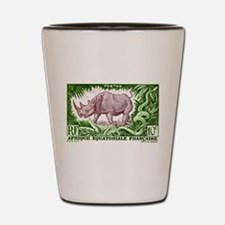1947 French Equatorial Africa Rhinoceros Stamp Sho