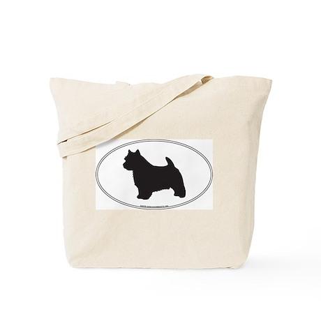 Norwich Terrier Silhouette Tote Bag