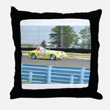 A British Racer At Speed Throw Pillow