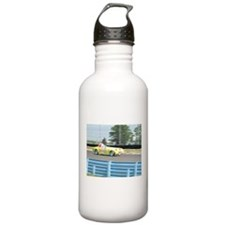 A British Racer At Speed Water Bottle