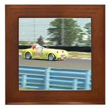 A British Racer At Speed Framed Tile