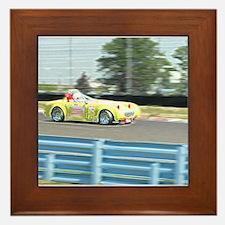 A British Racer At Speed Framed Tile
