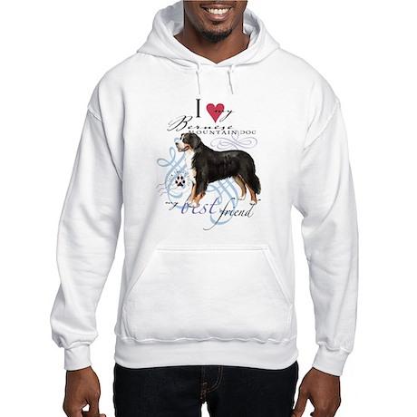 Bernese Mountain Dog Hooded Sweatshirt
