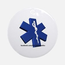EMT/Paramedic Logo Star of Life Ornament (Round)