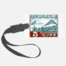 1943 Philippines Volcanoes Postage Stamp Luggage Tag