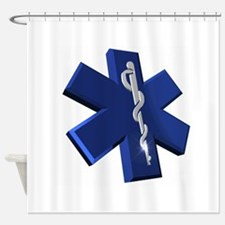 Star of Life Logo Shower Curtain