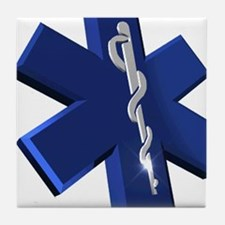 Star of Life Logo Tile Coaster