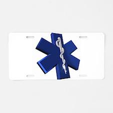 Star of Life Logo Aluminum License Plate