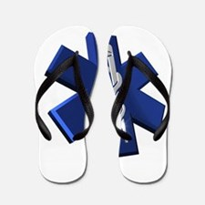 Star of Life Logo Flip Flops