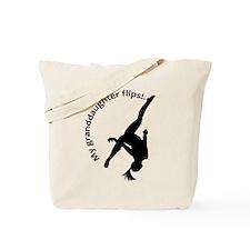 My Granddaughter Flips! Tote Bag
