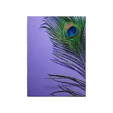 Lavender Peacock 5'x7'Area Rug