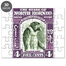 1939 North Borneo Proboscis Monkey Postage Stamp P