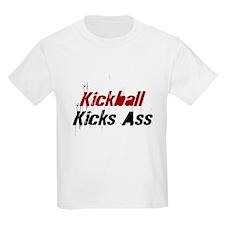Kickball Kicks Ass Kids T-Shirt