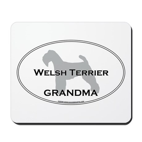 Welsh Terrier GRANDMA Mousepad