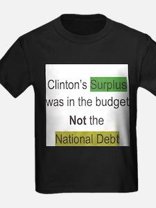 clinton's surplus lie T