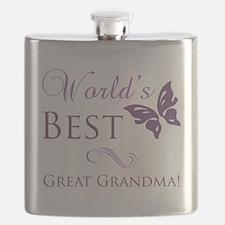 World's Best Great Grandma Flask