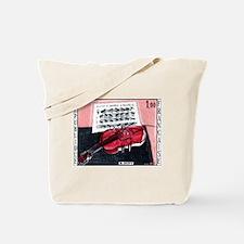 1965 France Red Violin Painting Postage Stamp Tote