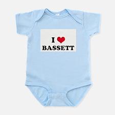 I HEART BASSETT  Infant Creeper