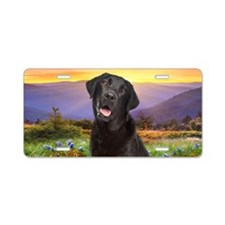 Labrador Meadow Aluminum License Plate