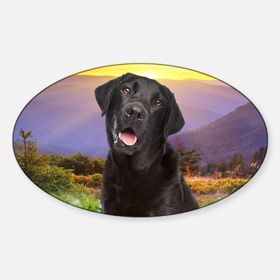 Labrador Meadow Sticker (Oval)