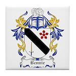 Bennie Coat of Arms Tile Coaster