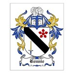 Bennie Coat of Arms Small Poster