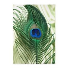 Green Apple Peacock Feather 5'x7'Area Rug