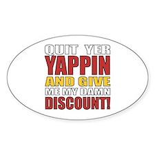 Senior Discount Humor Decal