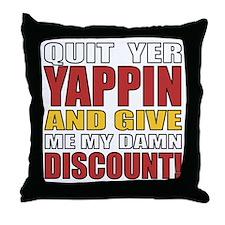 Senior Discount Humor Throw Pillow