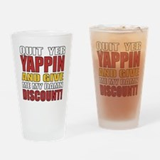Senior Discount Humor Drinking Glass