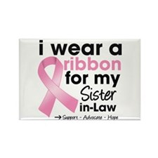 Sister-in-Law Breast Cancer Rectangle Magnet