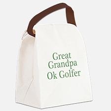 Great Grandpa OK Golfer Canvas Lunch Bag