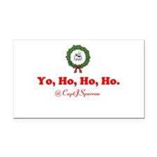 Yo, Ho, Ho, Ho Rectangle Car Magnet