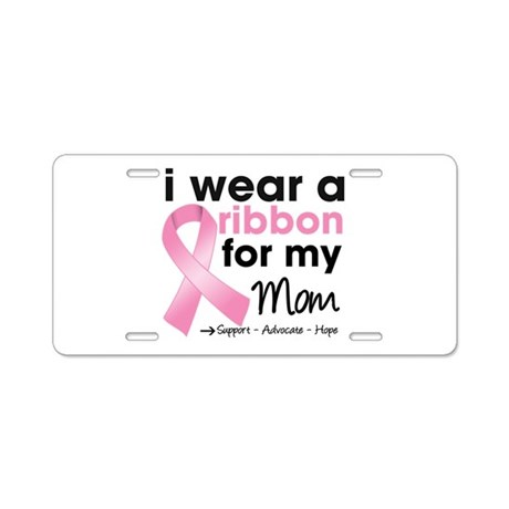 Pink Mom Breast Cancer Aluminum License Plate