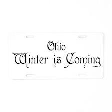 Ohio Winter is Coming Aluminum License Plate