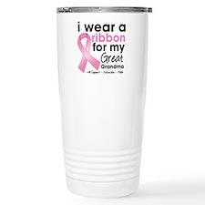 Great-Grandma Breast Cancer Travel Mug