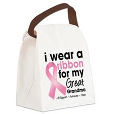 Great-Grandma Breast Cancer Canvas Lunch Bag
