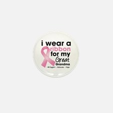 Great-Grandma Breast Cancer Mini Button (10 pack)
