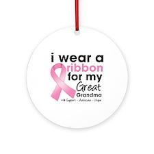 Great-Grandma Breast Cancer Ornament (Round)