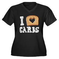 I Love Carbs! (Vintage) Women's Plus Size V-Neck