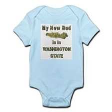 My New Bud is in Washington State Infant Bodysuit