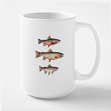 Stacked Trout Large Mug