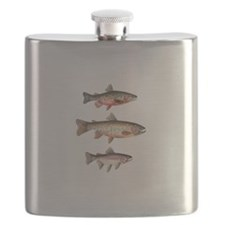 Stacked Trout Flask