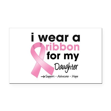 Daughter Breast Cancer Rectangle Car Magnet